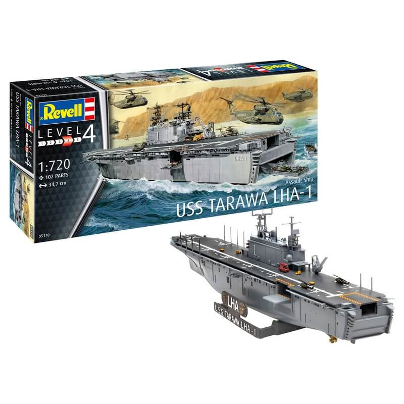 Πολεμικό Πλοίο USS Tarawa LHA-1 1/720 - Revell 05170