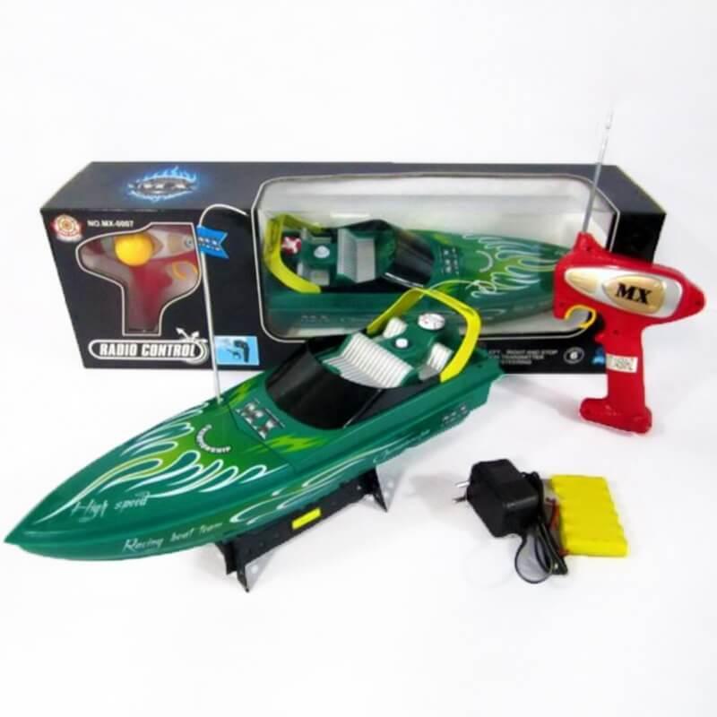 Τηλεκατευθυνόμενο Ταχύπλοο Σκάφος πράσινο με Φορτιστή.