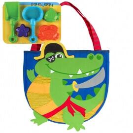 Παιδική Τσάντα για τη Θάλασσα με Παιχνίδια για την Άμμο - Αλλιγάτορας Stephen Joseph