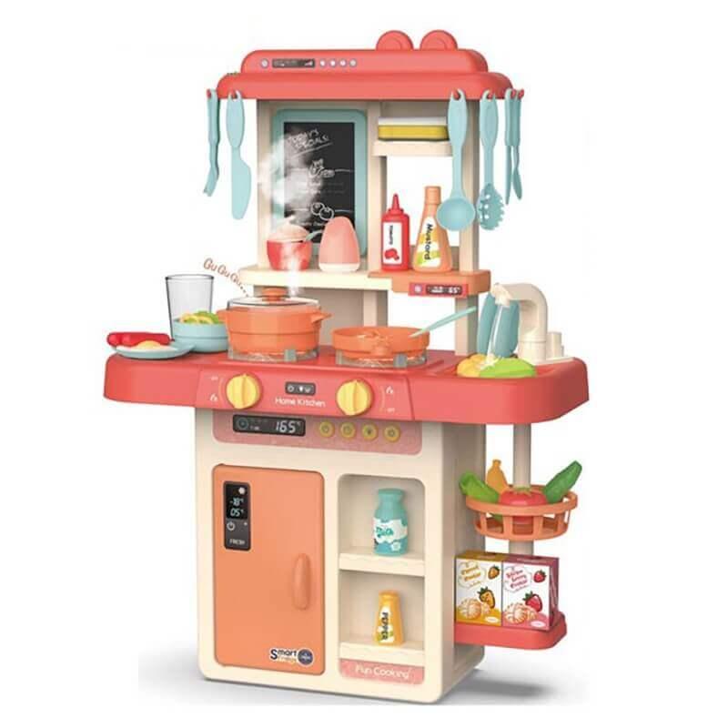 Παιδική Κουζίνα με Ήχους, Ατμό, Φώτα και Βρύση 42 τεμ (889-168)