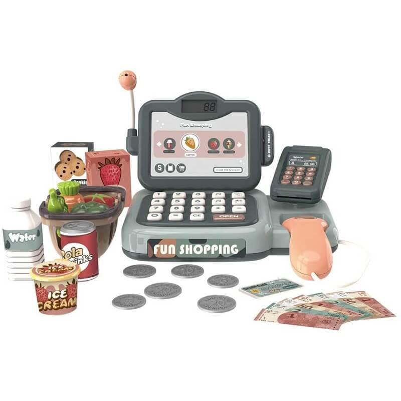 Παιδική Ταμειακή Μηχανή με Ήχους και Φως 25 τεμ. (888N)
