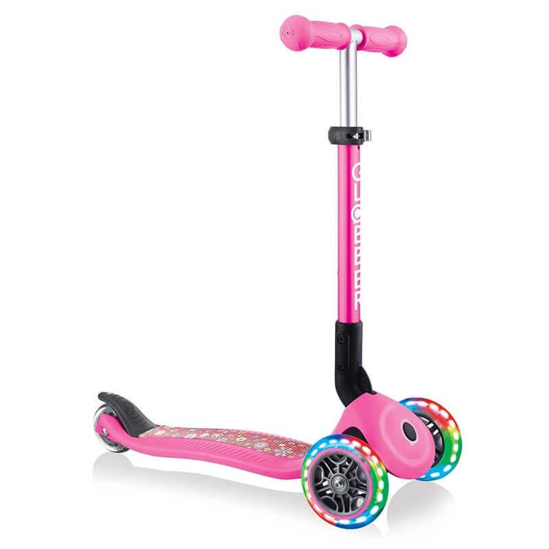 Πατίνι Globber Scooter Junior Foldable Fantasy Lights Flowers Pink (433-110)