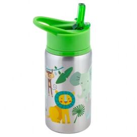 """Ανοξείδωτο Παγούρι Flip Top Bottle """"Ζοο"""" Stephen 532ml Joseph (SJ117534)"""