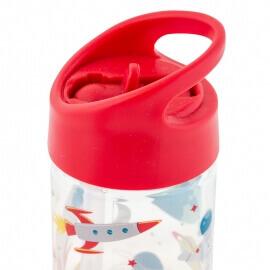 """Παγούρι Flip Top Bottle με Καλαμάκι """"Διάστημα"""" 350ml Stephen Joseph (SJ112298)"""