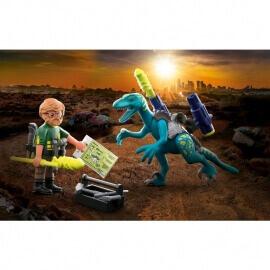 Playmobil Δεινόσαυροι - Δεινόνυχος με τον θείο Rob (70629)