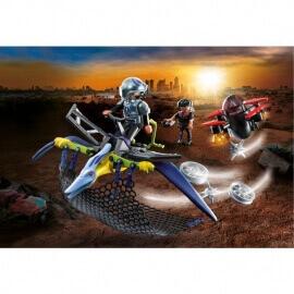 Playmobil Δεινόσαυροι - Πτεροδάκτυλος και μαχητές με drone (70628)