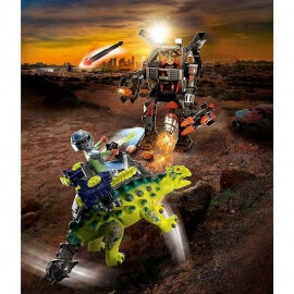 Playmobil Δεινόσαυροι - Αγκυλόσαυρος με μαχητή εναντίον ρομπότ (70626)