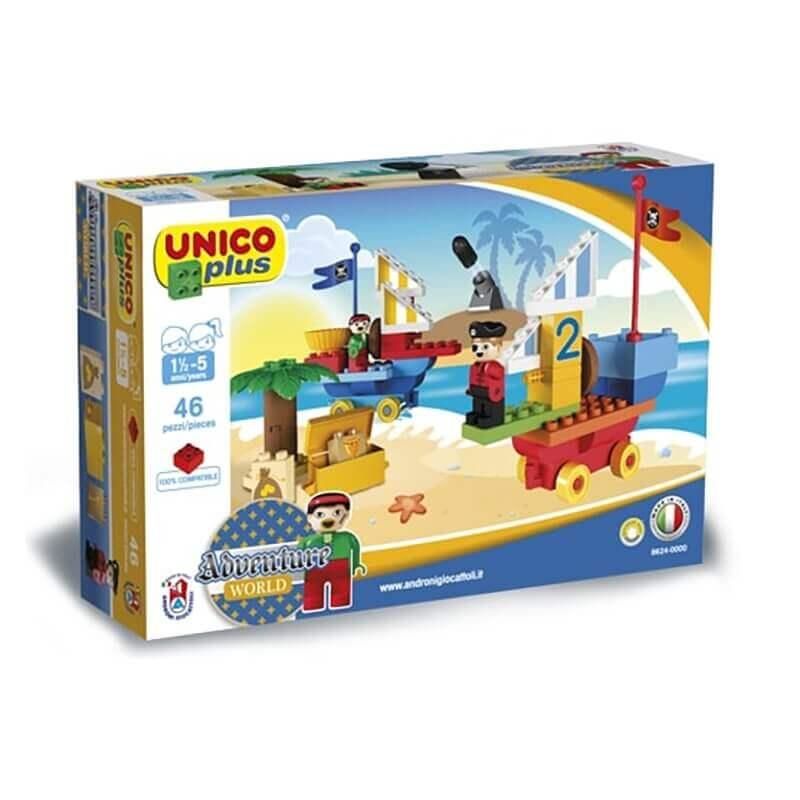 Unico Plus Τουβλάκια - Πειρατές 46 κομ.