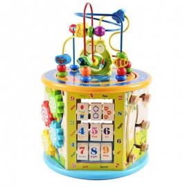 Ξύλινος Εκπαιδευτικός Κύλινδρος Δραστηριοτήτων & Προγραφής - Eva Toys W11B153