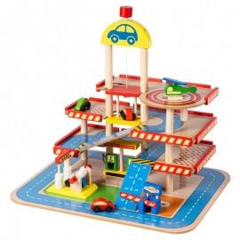 Ξύλινο Γκαράζ 4ων Επιπέδων - Eva Toys W04B034