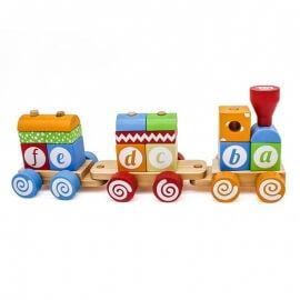 Ξύλινο Εκπαιδευτικό Τρενάκι - Eva Toys W04A393