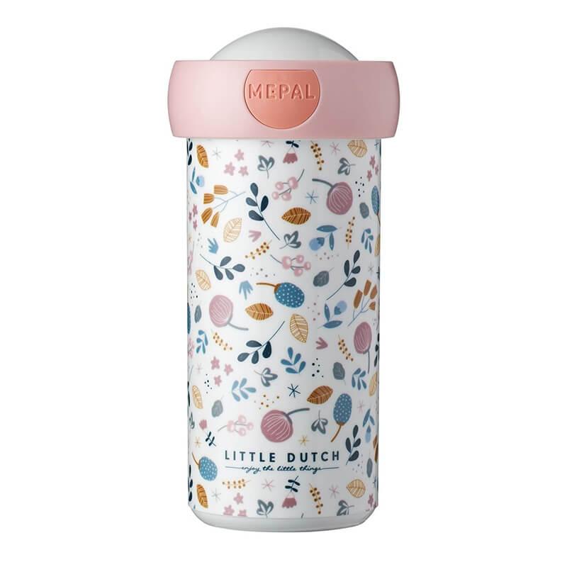 Ποτήρι Στεγανό με Καπάκι Spring Flowers 300ml - Little Dutch (MEP107420065390)