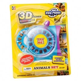 3D View Master με 2 Δίσκους με Ζωάκια MB8601