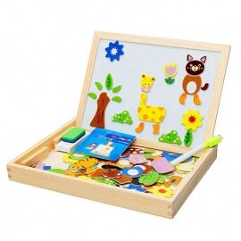 Πίνακας Ξύλινος με Μαγνητικά Ζωάκια - Eva Toys W12B060