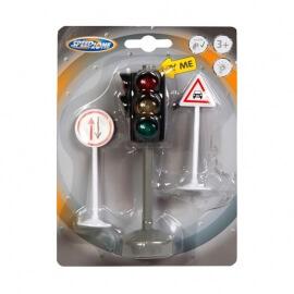 Σετ Φανάρι με Φως & 2 Σήματα Οδικής Κυκλοφορίας  - Speedzone (33900392)