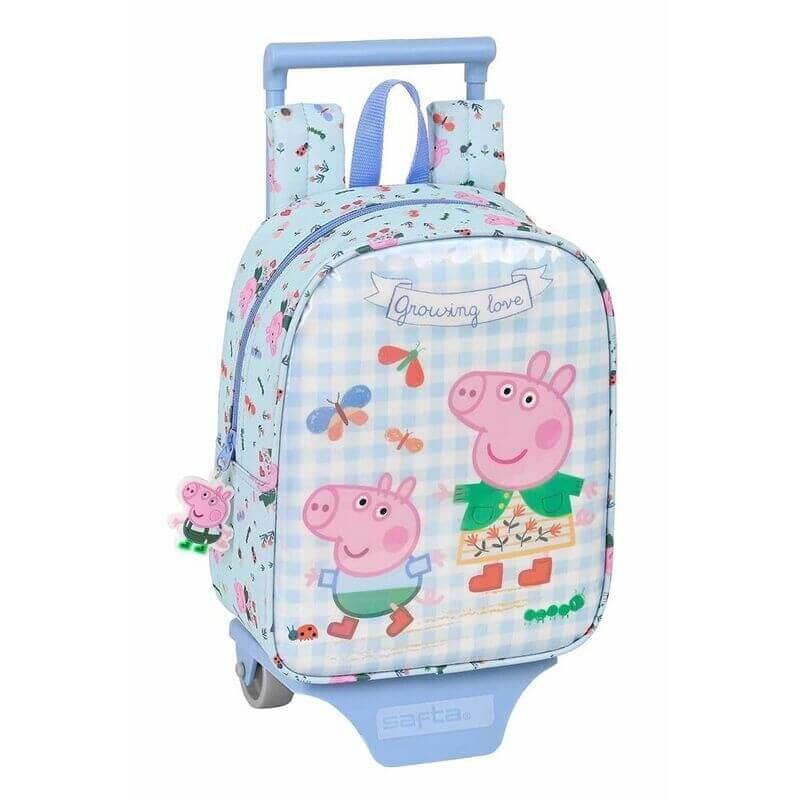Peppa Pig Σχολικό Σακίδιο Trolley Νηπίου - Safta (612190280)