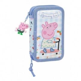 Peppa Pig Σχολική Κασετίνα Διπλή Γεμάτη - Safta (412190854)