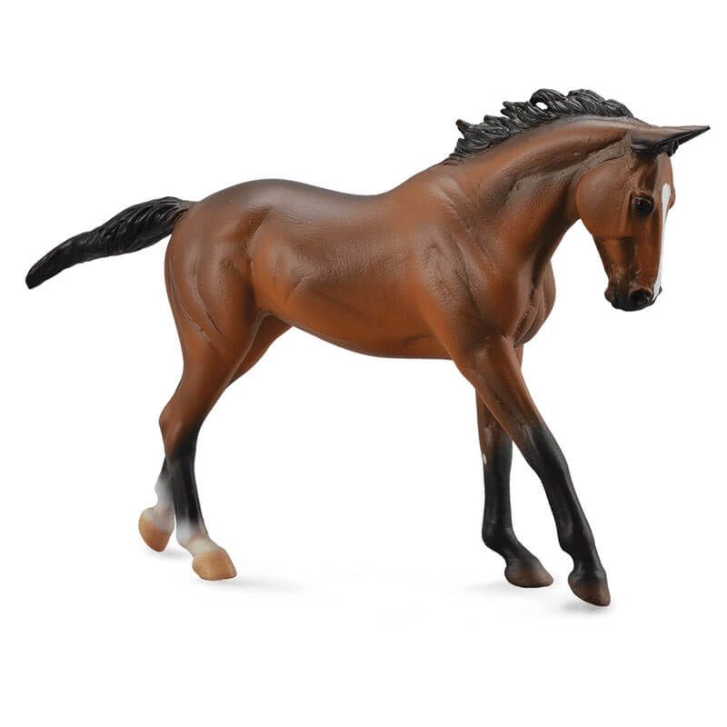 Collecta Μεγάλα Άλογα 1/12 - Καθαρόαιμη Φοράδα καφέ (89578)