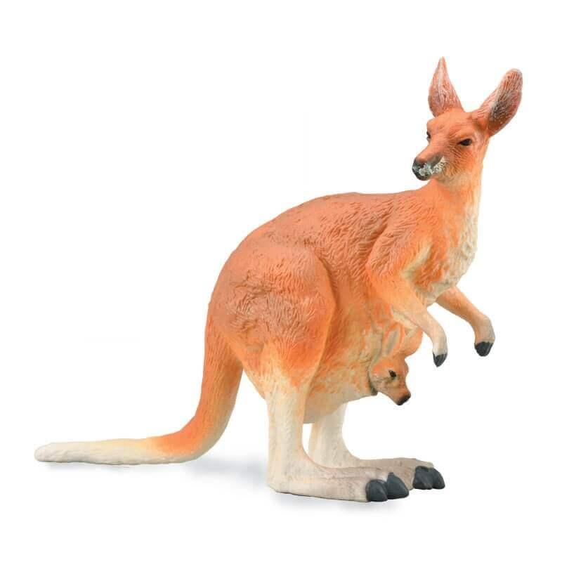 Collecta Ζώα - Κόκκινο Καγκουρό - Θηλυκό με Μωρό (88921)