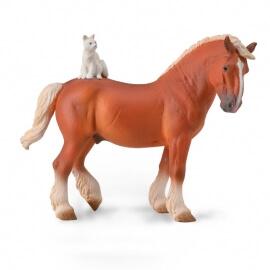 Collecta Ζώα - Άλογο Εργασίας με Γάτα (88916)