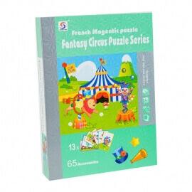 """Μαγνητικό Βιβλίο Παζλ """"Τσίρκο"""" με 13 Kάρτες"""