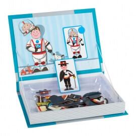 """Μαγνητικό Βιβλίο Παζλ """"Επαγγέλματα- Ρούχα"""" με 8 Kάρτες"""