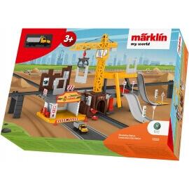 """Εργοτάξιο """"Construction Station"""" με Ήχους και Φώτα για τρένα Märklin my world 3+ (72222)"""