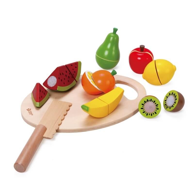 Ξύλινα Φρούτα με Ξύλο Κοπής