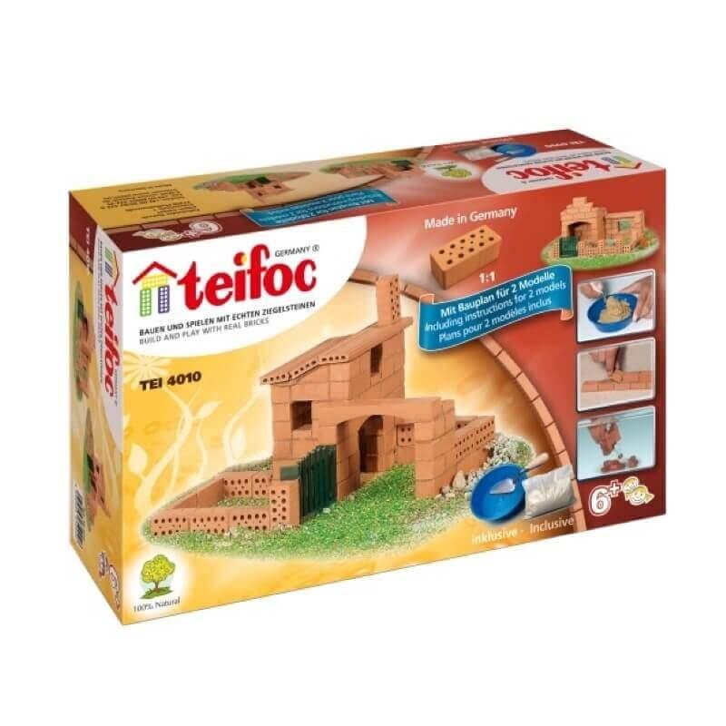 Teifoc - Χτίζοντας με Πραγματικά Τουβλάκια 'Σπίτια'  2 σχέδια
