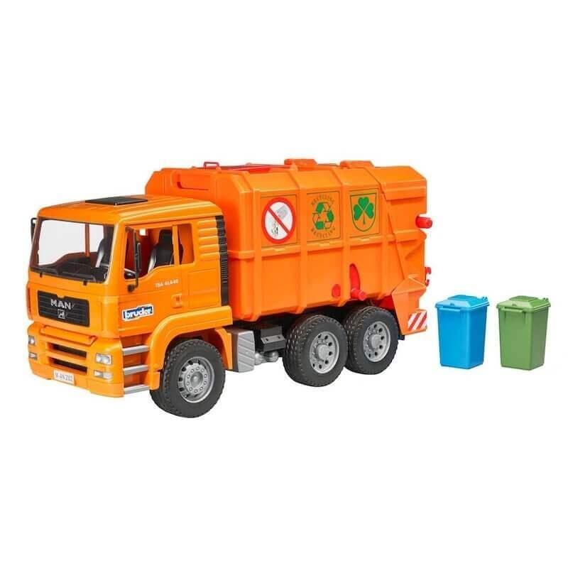 Bruder - Απορριμματοφόρο MAN πορτοκαλί
