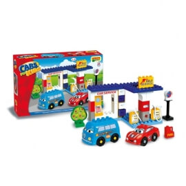 Unico Plus Τουβλάκια Βενζινάδικο - Cars for Kids 96 κομ.