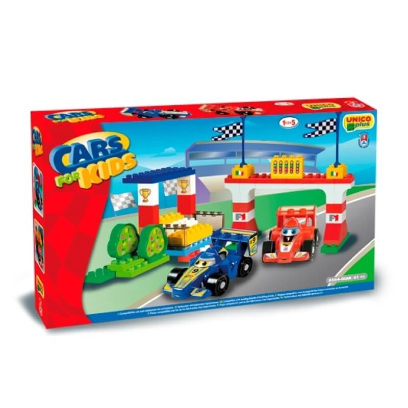 Unico Plus Τουβλάκια Φόρμουλες - Cars for Kids