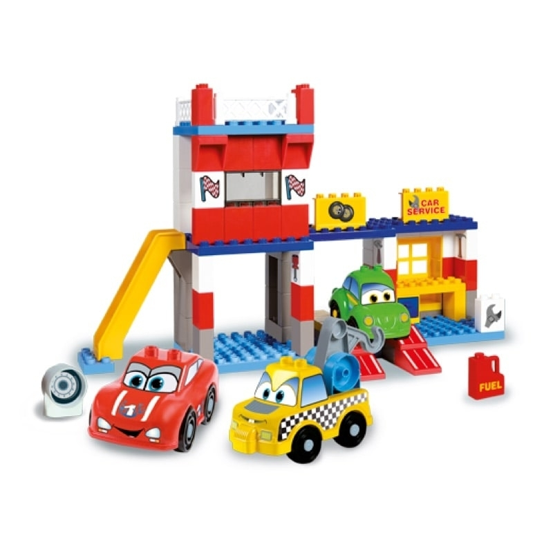 Unico Plus Τουβλάκια Γκαράζ - Cars for Kids
