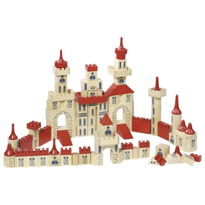 Ξύλινα Τουβλάκια Κατασκευή Κάστρο 150 κομ.