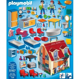 Playmobil Κουκλόσπιτο - Μοντέρνο Κουκλόσπιτο Βαλιτσάκι (5167)