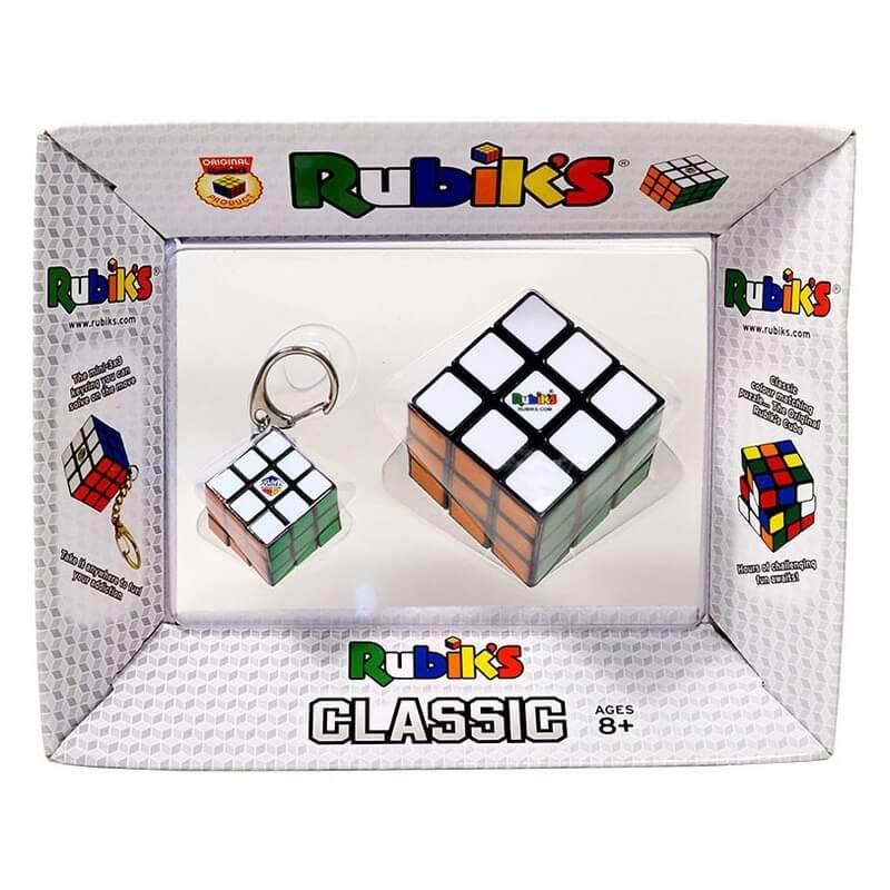 Σέτ Κύβος Rubik 3x3 και Μπρελόκ Rubik