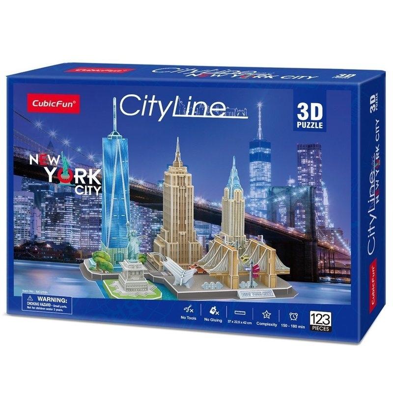 3D Παζλ - City Line New York City 123 κομ.