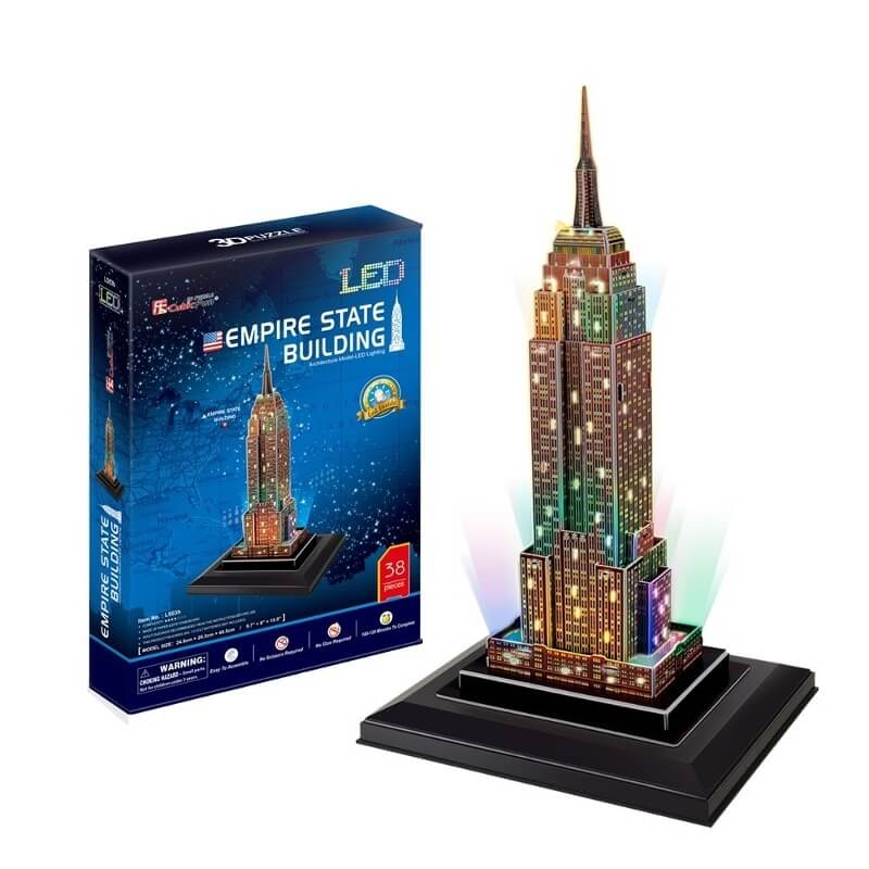3D Παζλ - Empire State Building LED φωτιζόμενο 39 κομ.