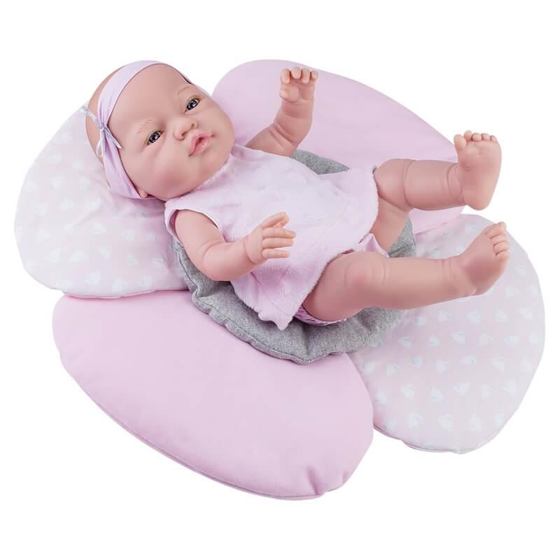 Μωρό Βινυλίου Paola Reina 'Bebita Cojin Flor' με Παπλωματάκι 45 εκ.
