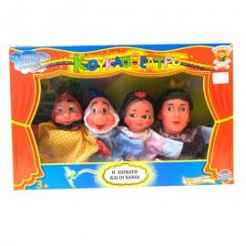 Σετ Κούκλες Κουκλοθεάτρου 'Η Χιονάτη και οι Νάνοι'