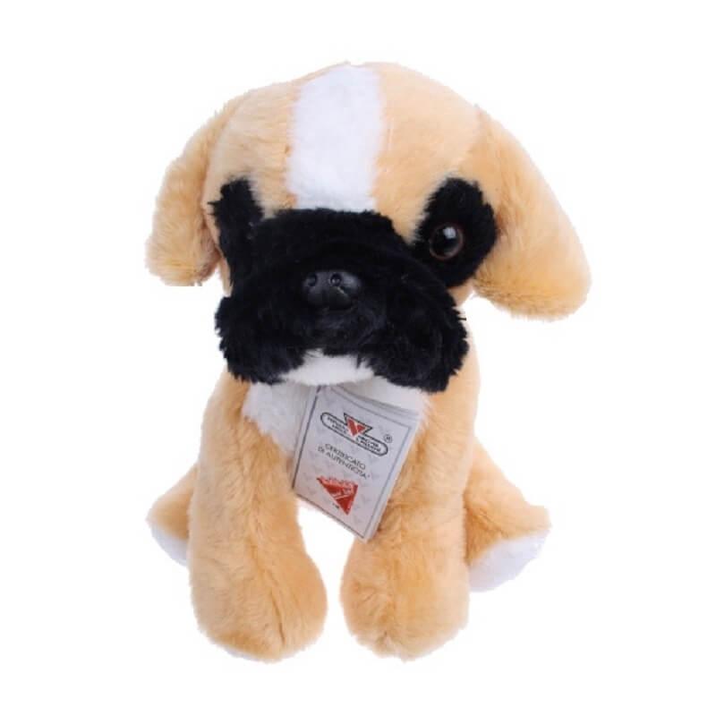 Σκύλος καθιστός 25 εκ. μπεζ-μαύρη μουσούδα