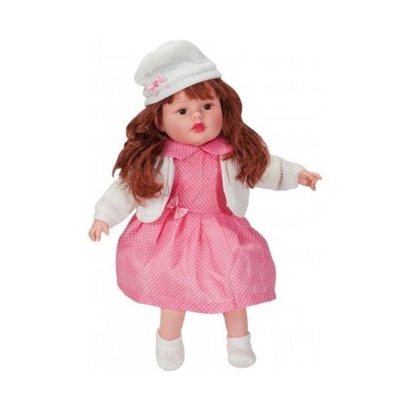 526e62ad4df5 Κούκλα που μιλάει Ελληνικά 40 εκ. Ρόζ φόρεμα - Ζακέτα λευκή ...