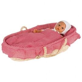 Καλάθι Ψάθινο Πόρτ-Μπεμπέ για Κούκλες