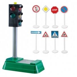 Σετ Σηματοδότης μπαταρίας και Σήματα Οδικής Κυκλοφορίας