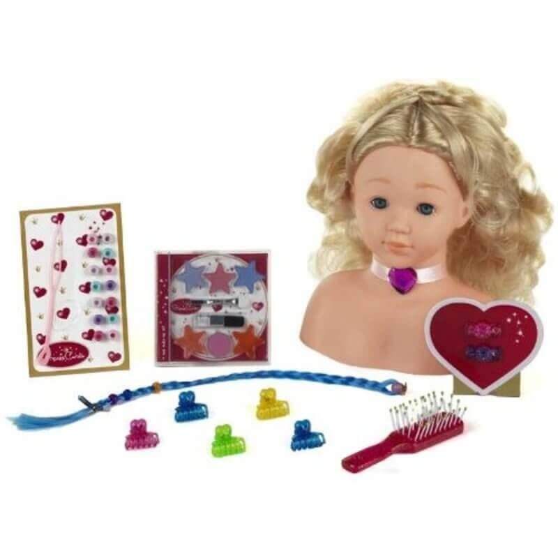 Κεφάλι Κούκλας για Μακιγιάζ και Κομμωτική Princess Coralie
