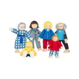 Ξύλινα Κουκλάκια για Κουκλόσπιτο - Οικογένεια Σετ 6 τεμ.