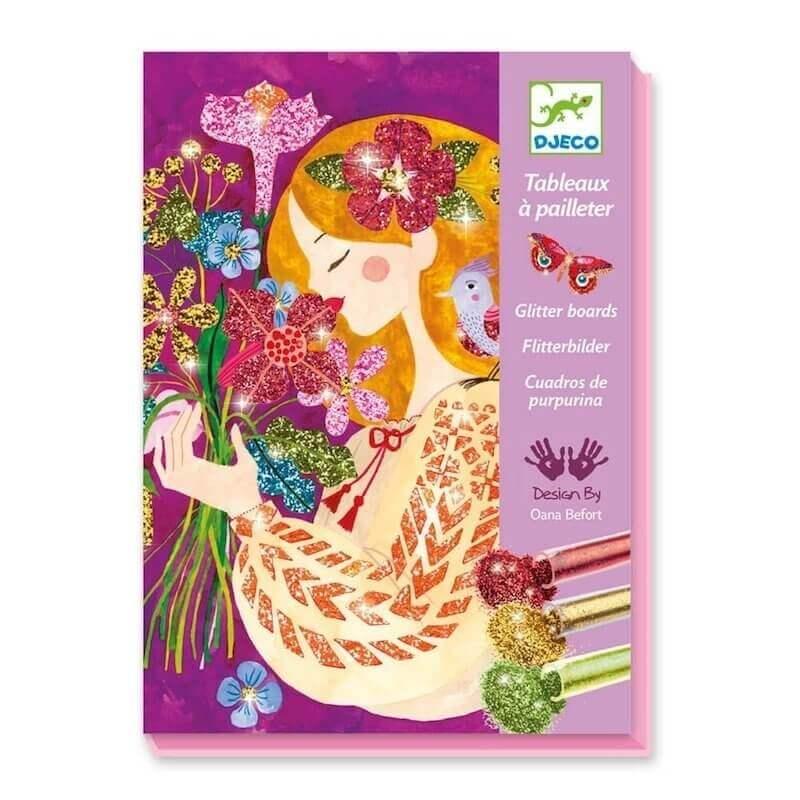 Djeco Σχεδιάζοντας με Χρυσόσκονη Λουλούδια