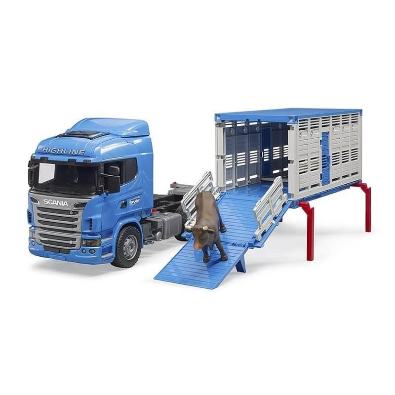 Bruder - Φορτηγό Scania Μεταφοράς Ζώων