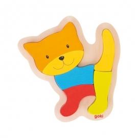 Ξύλινο Πάζλ Γάτα 6 κομ.