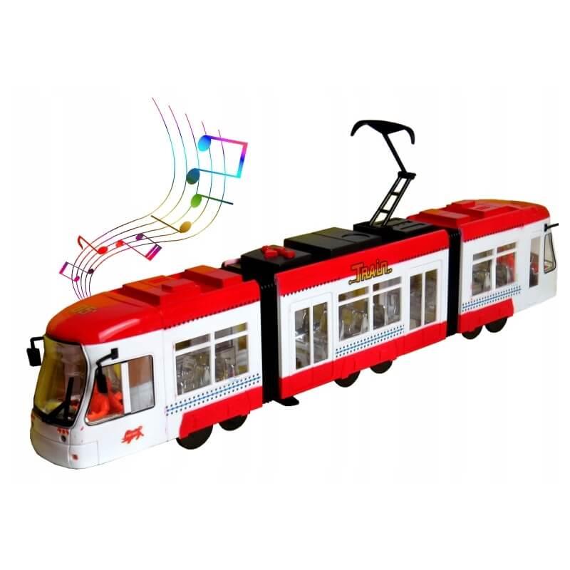 Τραμ με κίνηση, φώτα και ήχους κόκκινο